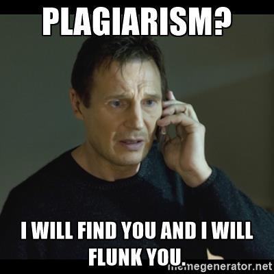 taken plagiarism meme