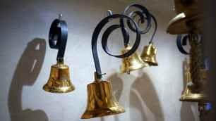 bells blur close up copper