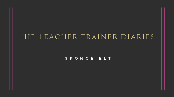The Teacher Trainer Diaries: The importance of both oral and written feedback.